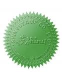15 Stickers Couleur Verte - Diamètre 5.5cm
