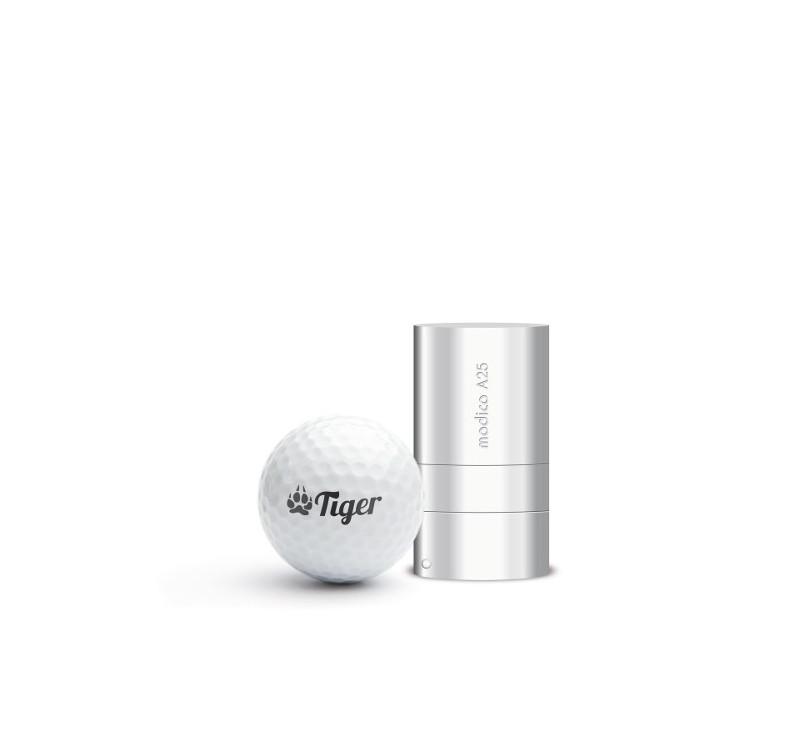 A25G - Tampon Balle de Golf, Auto Encreur, Personnalisé, Empreinte Ø 25 mm