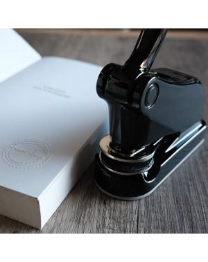 Presse à gaufrer Deluxe Shiny Noir - Empreinte Maxi. 40 mm Rond
