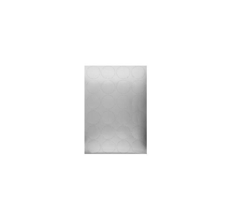 24 Stickers Couleur Argent - Diamètre 4,5 cm
